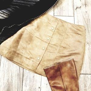NWT GAP Mini skirt tan sz 8